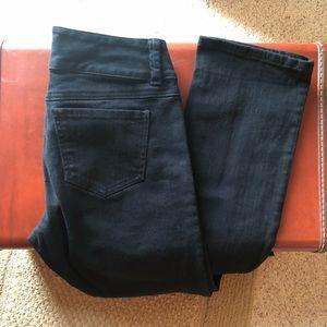 CAbi jeans black size 4 Style 515 straight leg